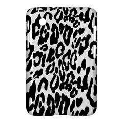Black And White Leopard Skin Samsung Galaxy Tab 2 (7 ) P3100 Hardshell Case