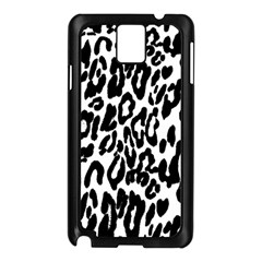 Black And White Leopard Skin Samsung Galaxy Note 3 N9005 Case (Black)