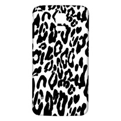 Black And White Leopard Skin Samsung Galaxy S5 Back Case (white)