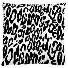 Black And White Leopard Skin Standard Flano Cushion Case (Two Sides)