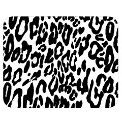 Black And White Leopard Skin Double Sided Flano Blanket (medium)