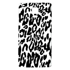 Black And White Leopard Skin Galaxy Note 4 Back Case