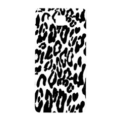 Black And White Leopard Skin Samsung Galaxy Alpha Hardshell Back Case