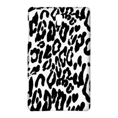 Black And White Leopard Skin Samsung Galaxy Tab S (8.4 ) Hardshell Case