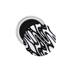 Black And White Wave Abstract 1 75  Magnets