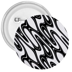 Black And White Wave Abstract 3  Buttons
