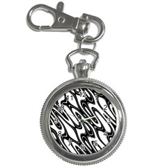 Black And White Wave Abstract Key Chain Watches