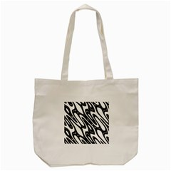 Black And White Wave Abstract Tote Bag (cream)