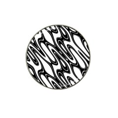 Black And White Wave Abstract Hat Clip Ball Marker