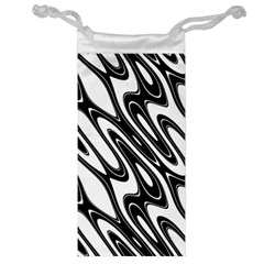Black And White Wave Abstract Jewelry Bag