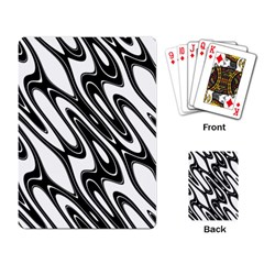 Black And White Wave Abstract Playing Card