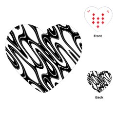 Black And White Wave Abstract Playing Cards (heart)