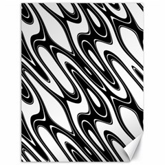 Black And White Wave Abstract Canvas 18  X 24
