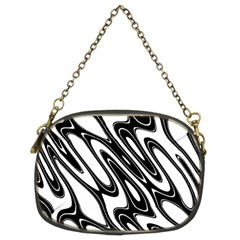 Black And White Wave Abstract Chain Purses (Two Sides)