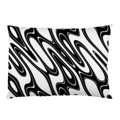 Black And White Wave Abstract Pillow Case
