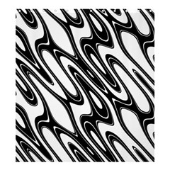 Black And White Wave Abstract Shower Curtain 66  x 72  (Large)