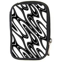 Black And White Wave Abstract Compact Camera Cases