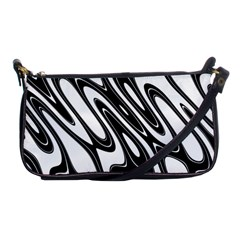 Black And White Wave Abstract Shoulder Clutch Bags