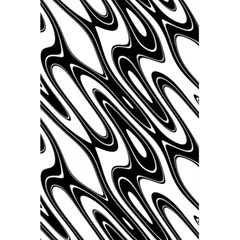 Black And White Wave Abstract 5 5  X 8 5  Notebooks
