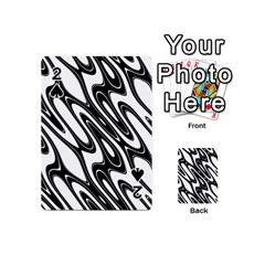 Black And White Wave Abstract Playing Cards 54 (mini)