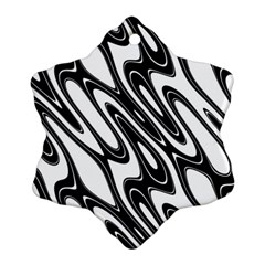 Black And White Wave Abstract Ornament (snowflake)