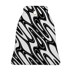 Black And White Wave Abstract Ornament (bell)