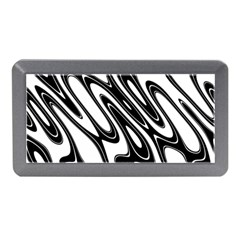 Black And White Wave Abstract Memory Card Reader (mini)