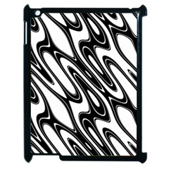 Black And White Wave Abstract Apple Ipad 2 Case (black)