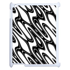 Black And White Wave Abstract Apple Ipad 2 Case (white)