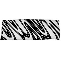 Black And White Wave Abstract Body Pillow Case (dakimakura)