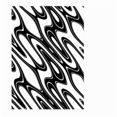 Black And White Wave Abstract Large Garden Flag (two Sides)