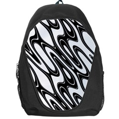 Black And White Wave Abstract Backpack Bag