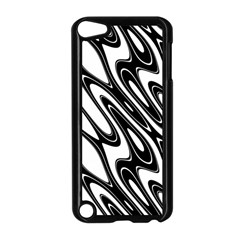 Black And White Wave Abstract Apple Ipod Touch 5 Case (black)
