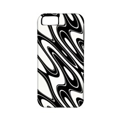 Black And White Wave Abstract Apple Iphone 5 Classic Hardshell Case (pc+silicone)