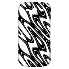 Black And White Wave Abstract Samsung Galaxy S3 S III Classic Hardshell Back Case