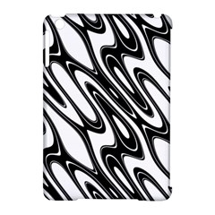 Black And White Wave Abstract Apple Ipad Mini Hardshell Case (compatible With Smart Cover)
