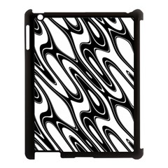 Black And White Wave Abstract Apple Ipad 3/4 Case (black)