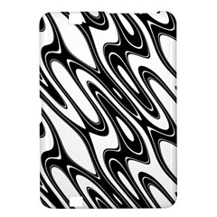 Black And White Wave Abstract Kindle Fire Hd 8 9