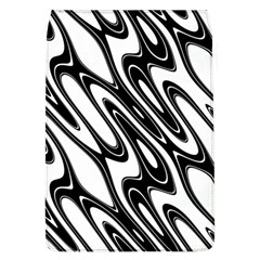 Black And White Wave Abstract Flap Covers (l)