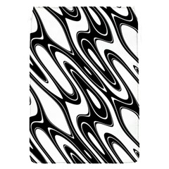 Black And White Wave Abstract Flap Covers (s)