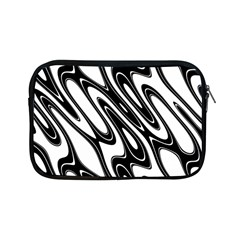 Black And White Wave Abstract Apple iPad Mini Zipper Cases
