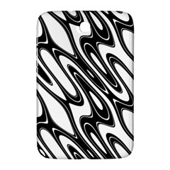 Black And White Wave Abstract Samsung Galaxy Note 8 0 N5100 Hardshell Case