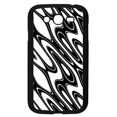 Black And White Wave Abstract Samsung Galaxy Grand Duos I9082 Case (black)