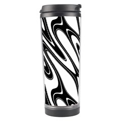 Black And White Wave Abstract Travel Tumbler