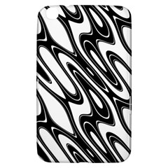 Black And White Wave Abstract Samsung Galaxy Tab 3 (8 ) T3100 Hardshell Case