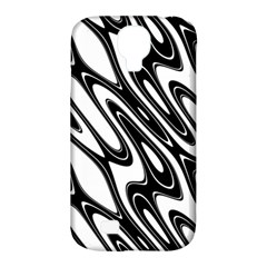 Black And White Wave Abstract Samsung Galaxy S4 Classic Hardshell Case (pc+silicone)