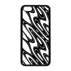 Black And White Wave Abstract Apple Iphone 5c Seamless Case (black)