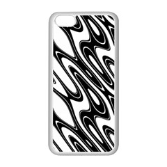 Black And White Wave Abstract Apple Iphone 5c Seamless Case (white)