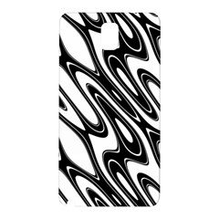 Black And White Wave Abstract Samsung Galaxy Note 3 N9005 Hardshell Back Case