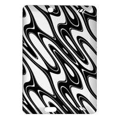 Black And White Wave Abstract Amazon Kindle Fire Hd (2013) Hardshell Case